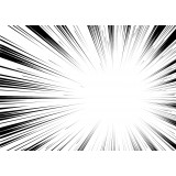 Comic book radial background black and white