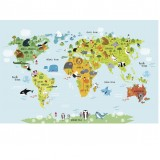 Animals map of the world
