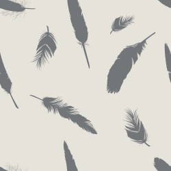 Plumage feather on pastel background