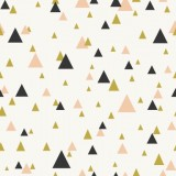 Triangles pastel pink and gold
